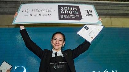 La sommelier de 35 años se destacó entre los 27 participantes del concurso