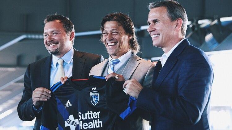 Matías Almeyda actualmente es el director técnico del San José Earthquakes de la MLS (Foto: @sanjoseearthquakes)