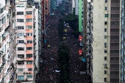 Masiva protesta en junio de 2019 (Reuters)