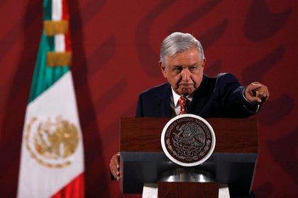 López Obrador en Palacio Nacional el 14 de febrero de 2020. (Foto REUTERS/Carlos Jasso)