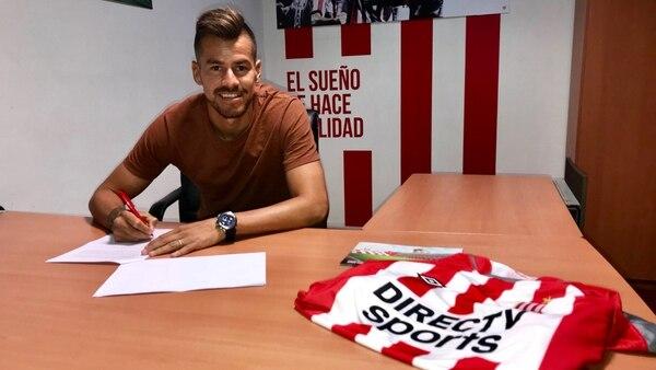 Giménez firmó contrato hasta junio del 2020