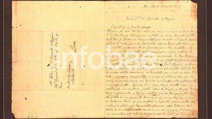 La carta de San Martín a O'Higgins que se encontró en el domicilio de la familia Kirchner