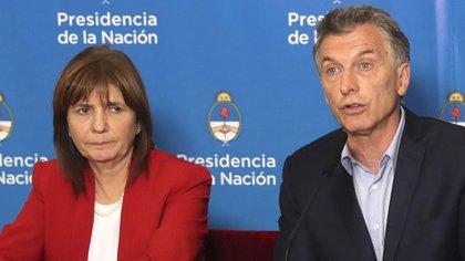 Patricia Bullrich y Mauricio Macri (FOTO NA)