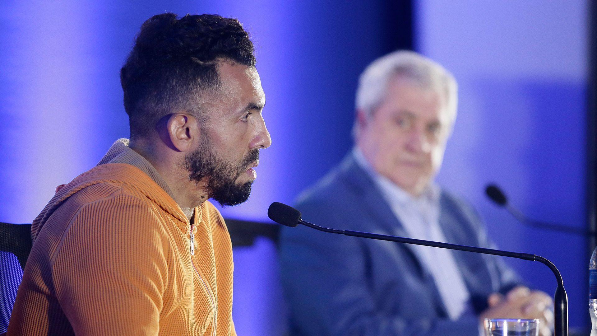 Carlos Tevez donde anunció su salida de Boca