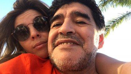 Dalma y Diego Maradona, en días felices (Instagram)