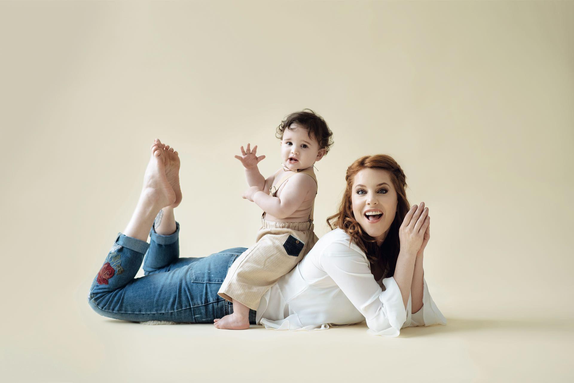 Agustina Kämpfer y su hijo Juan