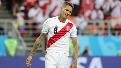 Soccer Football – World Cup – Group C – Peru vs Denmark – Mordovia Arena, Saransk, Russia – June 16, 2018   Peru's Paolo Guerrero reacts during the match   REUTERS/Marcos Brindicci