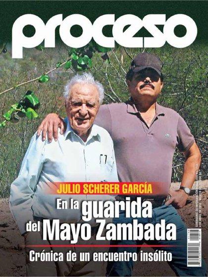 """De izquierda a derecha. El periodista Julio Scherer junto a """"El Mayo """" Zambada (Foto: Proceso)"""