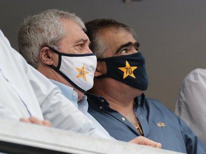 Jorge Amor Ameal estuvo en la cancha de Boca en el Superclásico, tras recuperarse del COVID-19