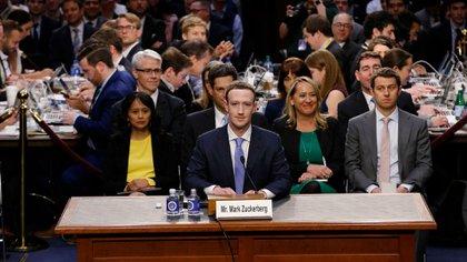 Marck Zuckerberg durante su audiencia en el Congreso. Foto: Reuters.