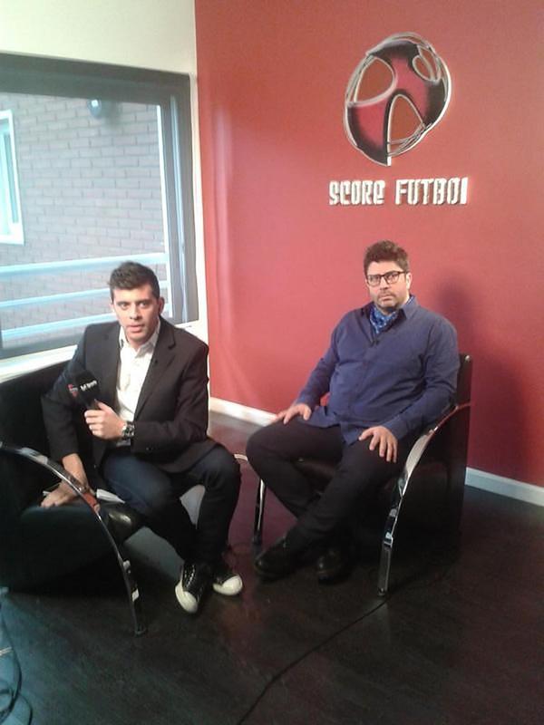 Durante una entrevista en su empresa Score Fútbol