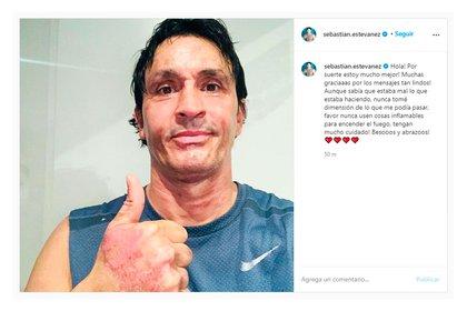 El posteo de Sebastián Estevanez en Instagram