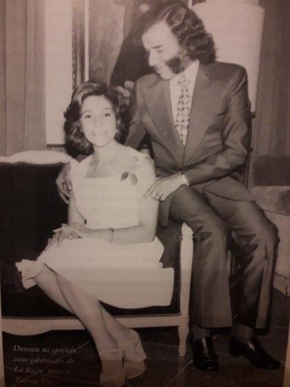 Su mujer, Zulema Fátima Yoma, era parte de una reconocida familia riojana de emigrados sirios. Zulema nació en Nonogasta, La Rioja, el 18 de diciembre de 1942. Conoció a su esposo en 1964 y se casó con él dos años después