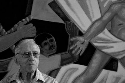 Pere Casaldàliga en una fotografía de Joan Guerrero en Brasil, incluida en la exposición de Casa Amèrica Catalunya 'Pere Casaldàliga, de professió l'esperança'