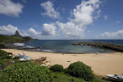 La autorización para los turistas curados será el primer paso para la reactivación del turismo en Fernando de Noronha, principal fuente de ingresos del archipiélago de poco más de 3.000 habitantes (EFE)