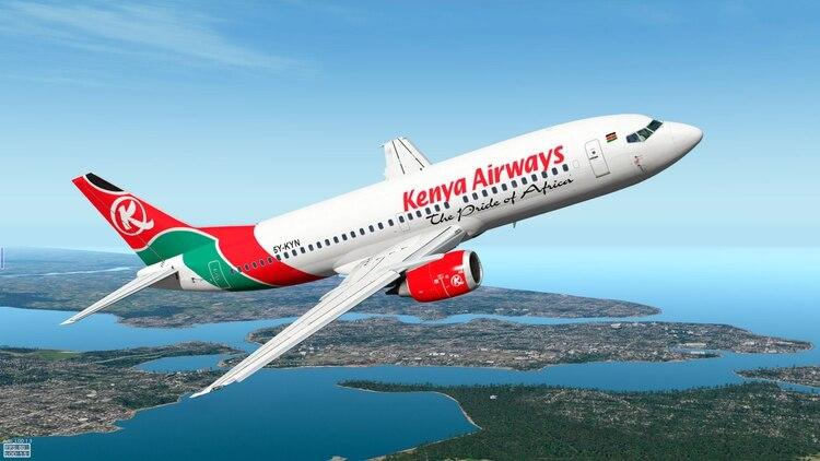 Una aeronave de Kenya Airways