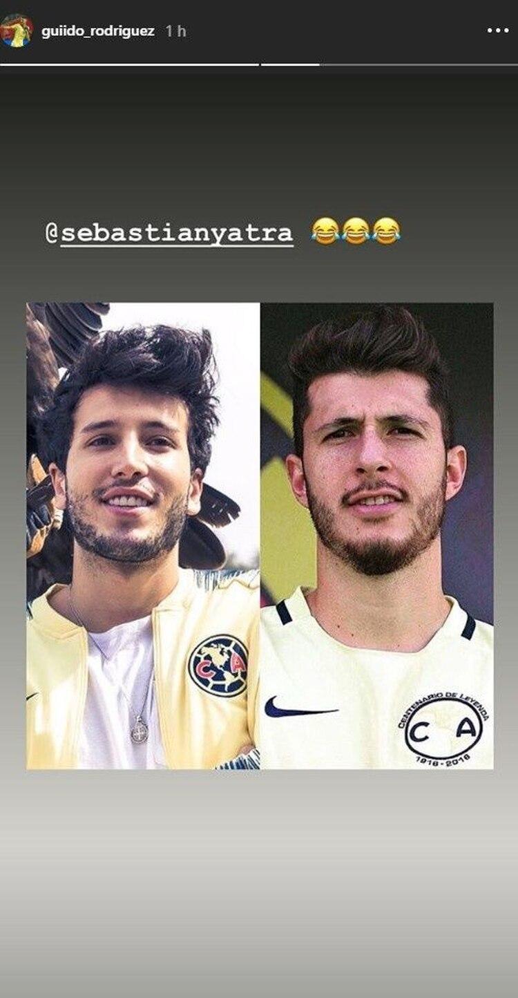 GuidoRodríguez se comparó con Sebastián Yatra. (Foto: Instagram Stories)