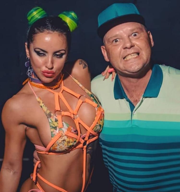 El Pepo junto a Romina Candia, quien aseguró que iban tomando Vodka con jugo en el coche