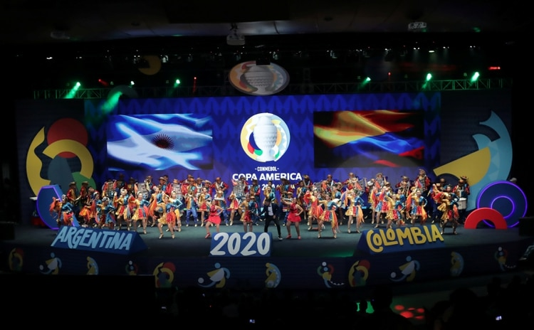 Soccer Football - Copa America Argentina-Colombia 2020 Draw - Centro de Convenciones, Cartagena, Colombia - December 3, 2019 General view of performers during the draw REUTERS/Luisa Gonzalez