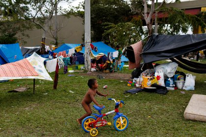 Venezolanos en Brasil (Reuters)