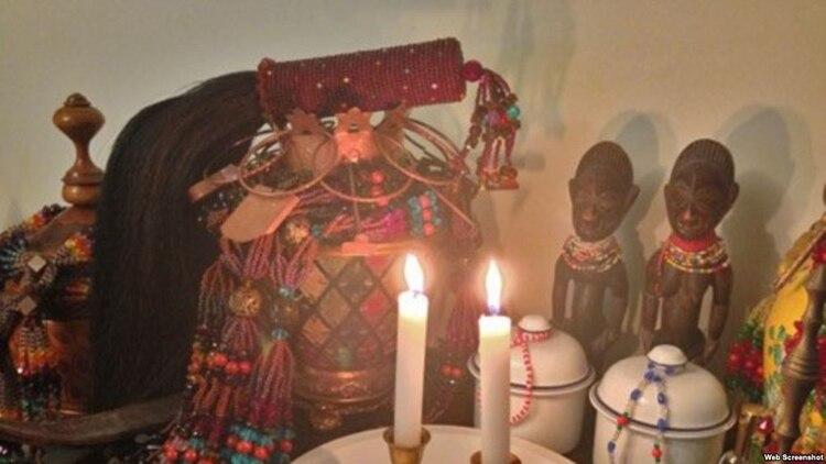Altar de santería (Foto: Martí Noticias)