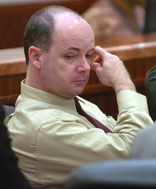 """Anthony Shore en octubre de 2004 ante la Corte de Harris County en Houston. Fue ejecutado ayer, 18 de enero de 2018 tras varias postergaciones. Era conocido como """"el asesino del torniquete"""" (AP)"""