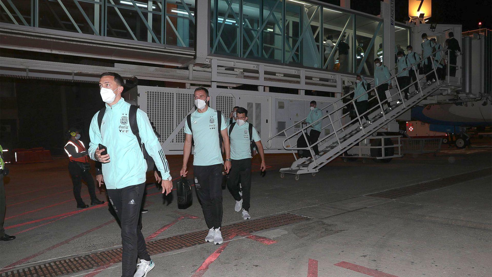 llegada de la seleccion a Barranquilla