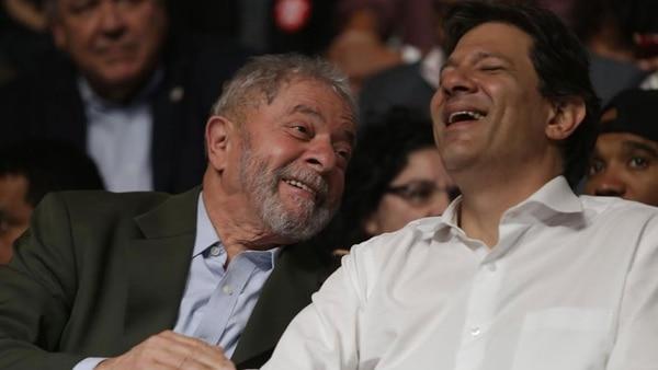 Luiz Inácio Lula da Silva y Fernando Haddad