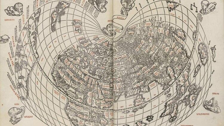 El 46 a.C. fue uno de los años más largos de la historia, pues duró 445 días en total, por lo que al año juliano también es conocido como el año de la confusión (Imagen: Planisferio de Sylvanus o Mapamundi ptolemaico (1511), del cartógrafo italiano Bernardo Sylvanus. Kimon Berlin)