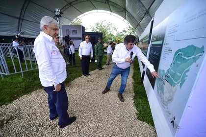 El tren Maya es el principal proyecto del presidente Andrés Manuel López Obrador para el sureste mexicano (Foto: Cortesía Presidencia)