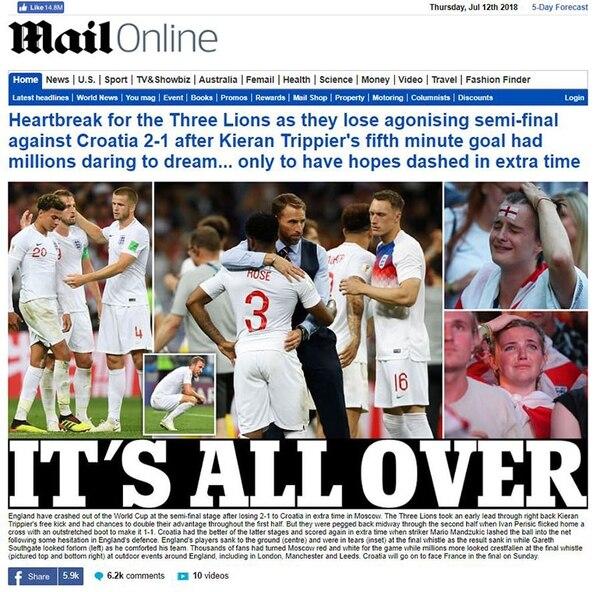 Todo se acabó (Daily Mail)