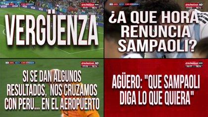 Las placas de Crónica durante el último Mundial