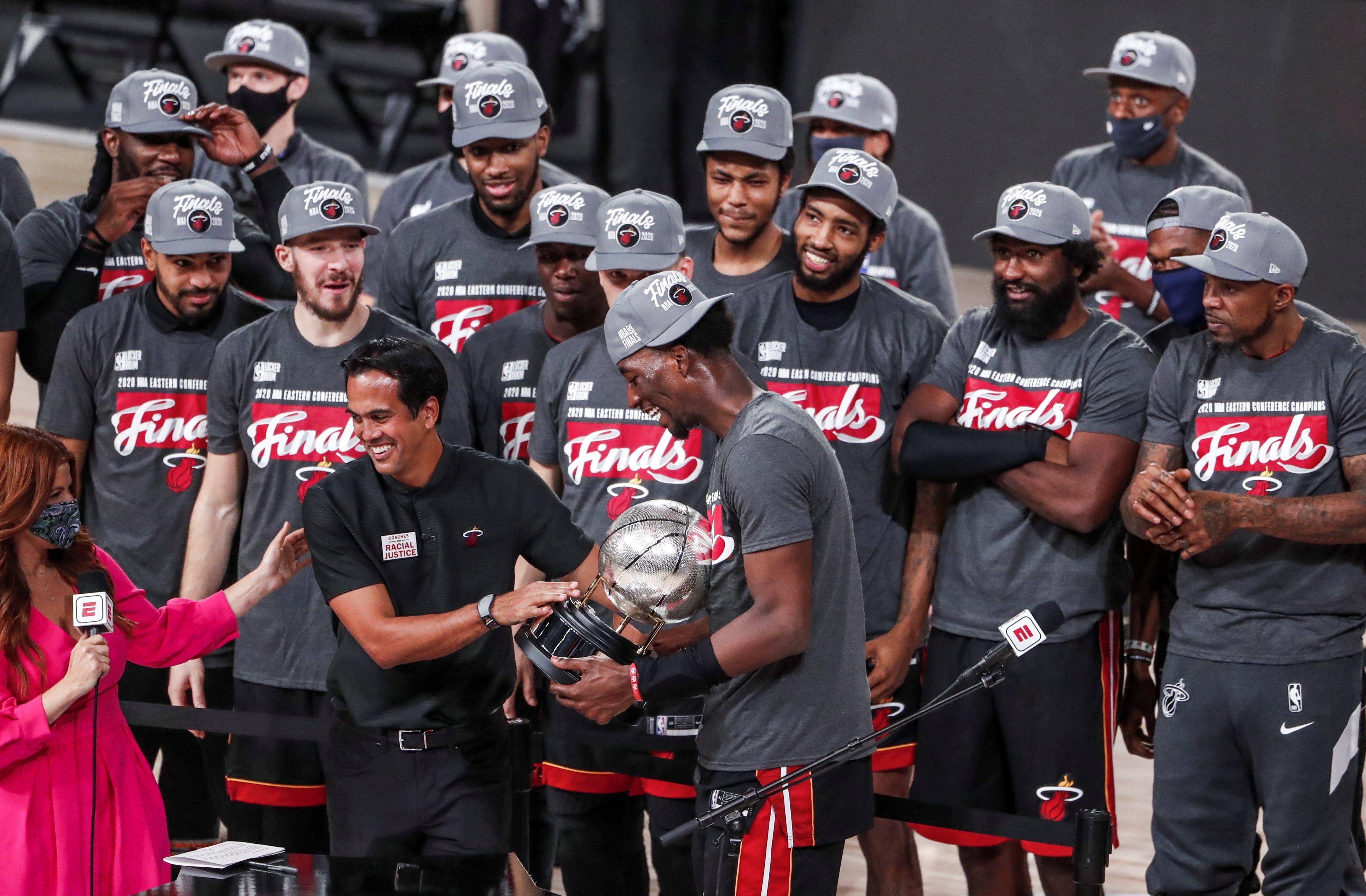 El Heat se consagró campeón del Este tras vencer a los Boston Celtics (EFE/Erik S. Lesser)