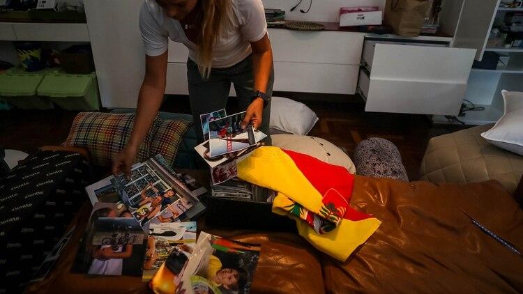 Lilian Tintori, esposa de Leopoldo López, recorre su casa este miércoles en Caracas (Venezuela). EFE/ Miguel Gutiérrez