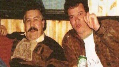 Popeye junto con Pablo Escobar
