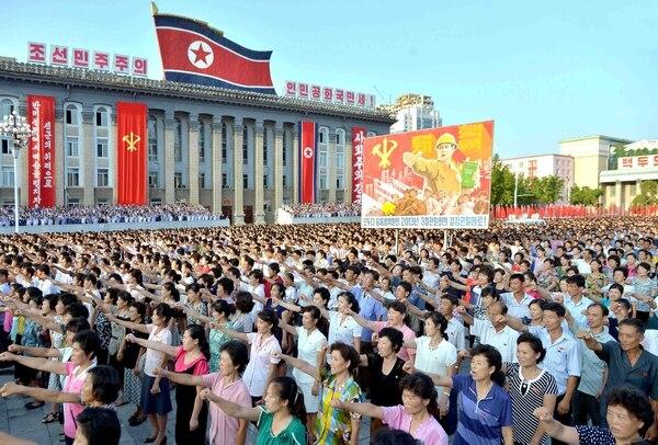 Acto en Pyongyang (Reuters)