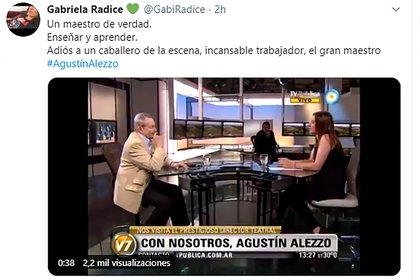 El posteo de Gabriela Rádice