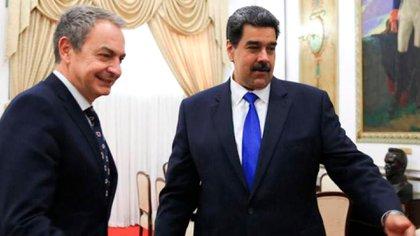 Rodriguez Zapatero y Nicolas Maduro