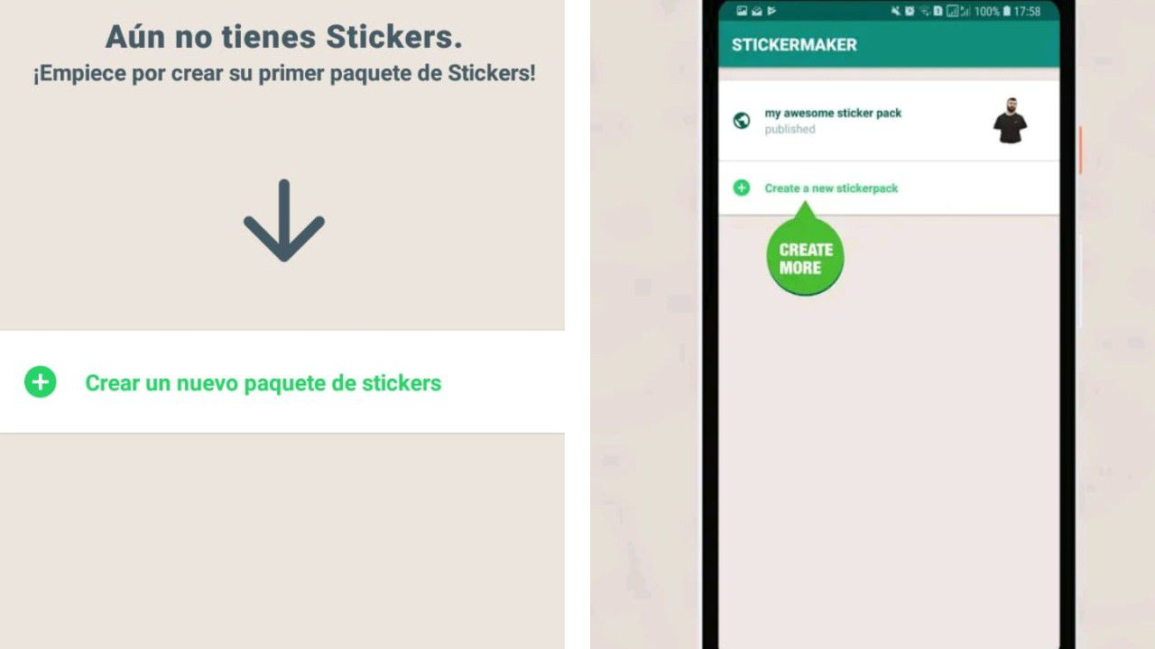 stickers animados hacer