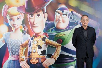 El actor norteamericano Tom Hanks, que presta su voz al vaquero Woody EFE/ Marta Pérez/Archivo