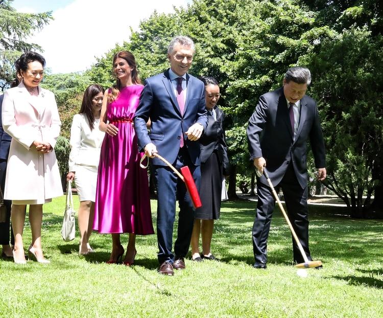Macri y Xi Jinping estuvieron reunidos en diciembre pasado en la quinta de Olivos (Presidencia)