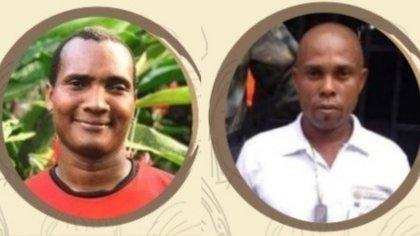 El Inspector de Policía de Nuquí, José Riascos, y uno de los guías turísticos de la población, Margarito Salas fueron asesinados. Foto: Tomado de Indepaz