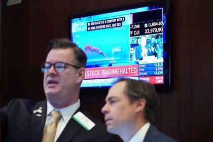 Operadores en el piso de la Bolsa de Nueva York. 9 de marzo 2020. REUTERS/Bryan R Smith
