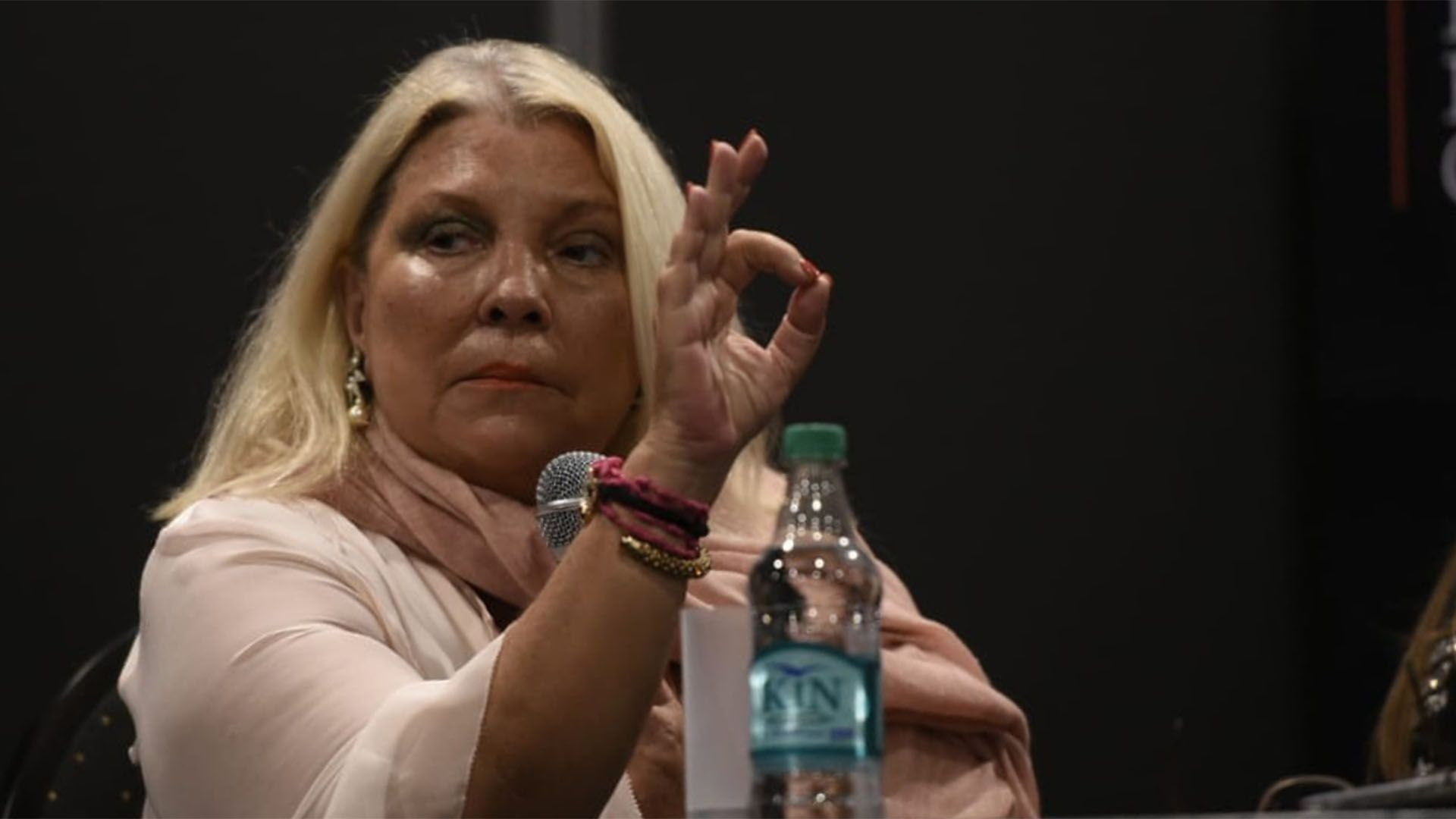 La diputada de la Coalición Cívica, Elisa Carrió.