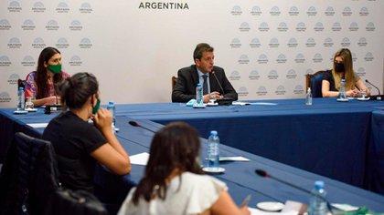 Sergio Massa se reunió virtualmente con los presidentes de las comisiones en las que se debatirá la iniciativa (Adrián Escandar)