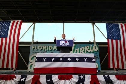 Biden da un discurso durante su visita al estado de Florida el 13 de octubre. Foto: REUTERS/Tom Brenner