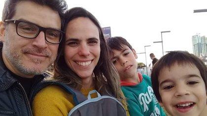 Fernando junto a su familia (Instagram @fernandosayago)
