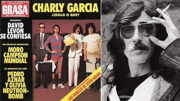 """La portada de """"La grasa de las capitales"""" y Charly García"""