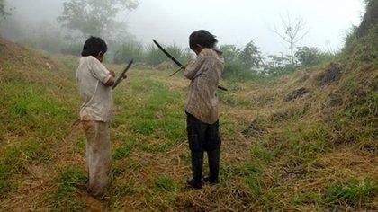 Los yukpas son nómadas y cazadores, pero el dinero reunido de sus siembras no les alcanzaban para abastecerse de alimentos. (Foto Juan Pablo Gutiérrez – ONIC)