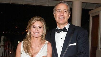 El empresario está casado desde el 17 de noviembre de 2013 con la ex senadora nacional María Laura Leguizamón, con quien tiene un hijo llamado Alfonso.  (Veronica Guerman)